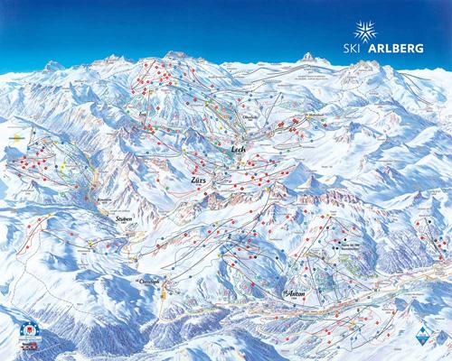 Схема склонов SkiArlberg