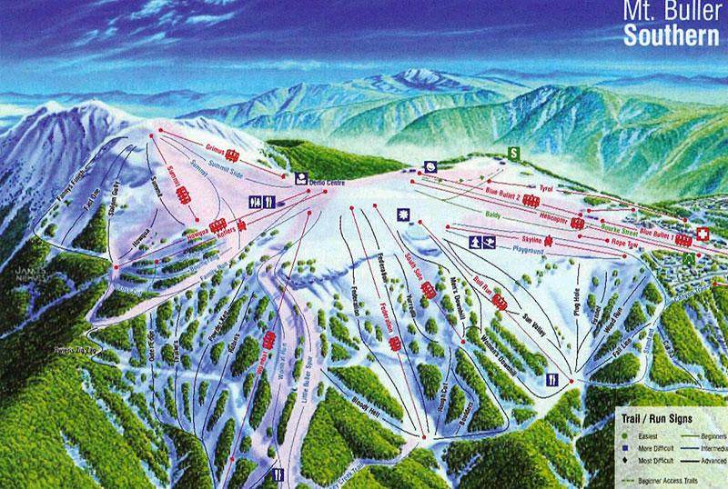 Схема северных склонов