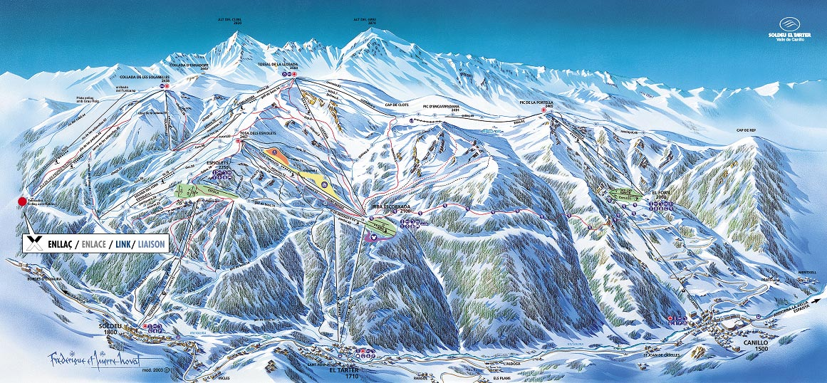 Высота курорта - 1260 м над