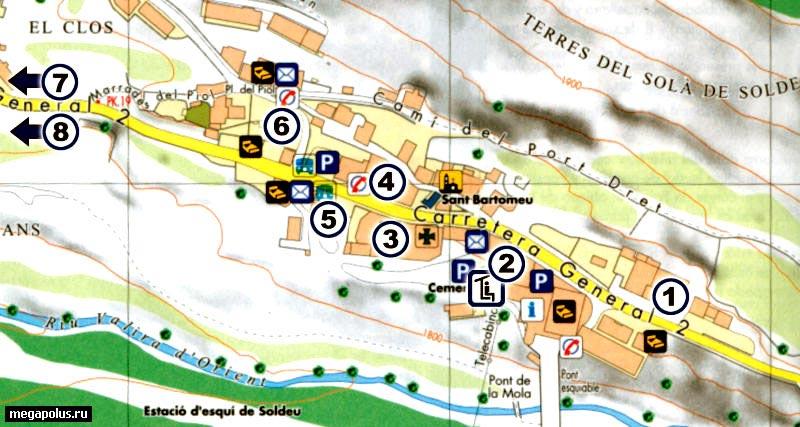 Схема курорта Canillo (142.9