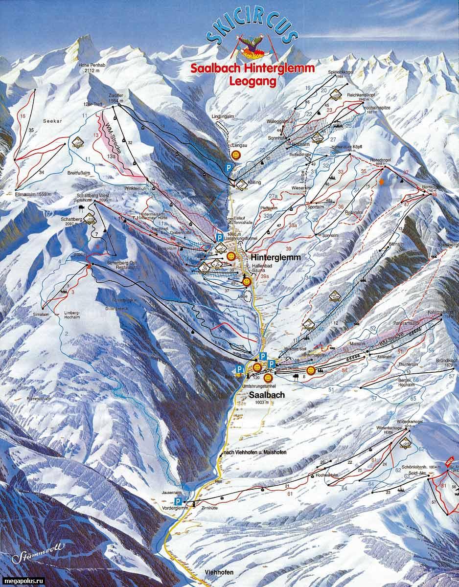 Район катания для всех уровней подготовки.  Лыжный район супер-разряда, который оправдал себя в.
