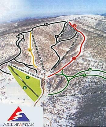 Схема трасс Аджигардак.