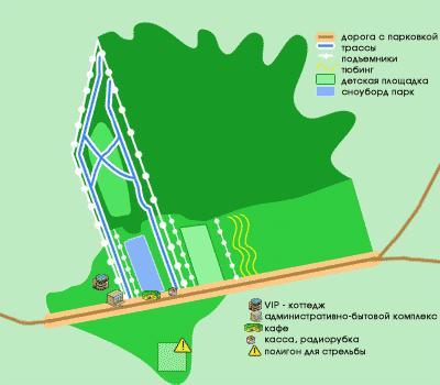 Схема курорта