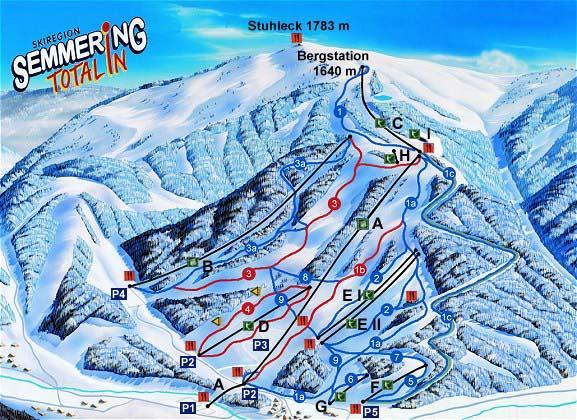 Карта трасс Штулек-Земмеринг