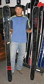целинные лыжи от Prior Snowboards