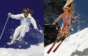 Лыжница в зимней и весенней шкурке