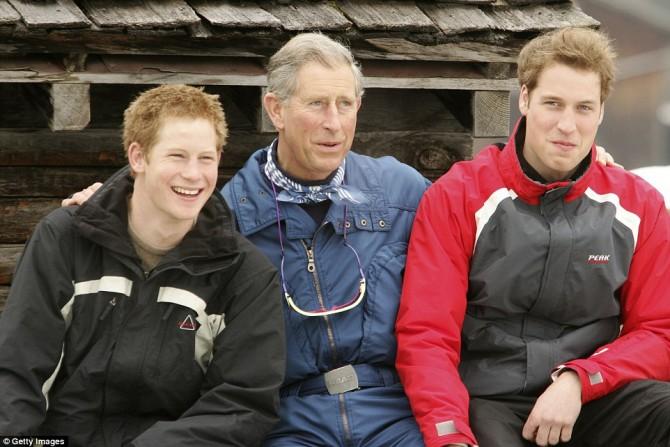 Принц Чарльз с сыновями