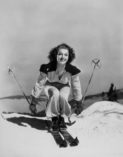 Американская актриса Энн Шеридан на Зимнем карнавале. 1939 год
