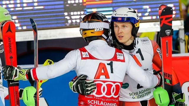 Хенрик Кристофферсен выиграл гигантский слалом на словенском Кубке мира
