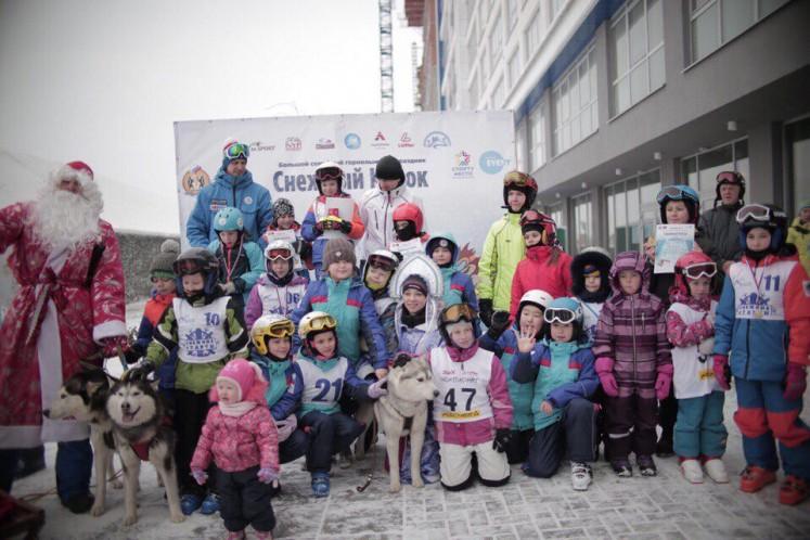 Участники соревнований 1 этапа Снежного кубка