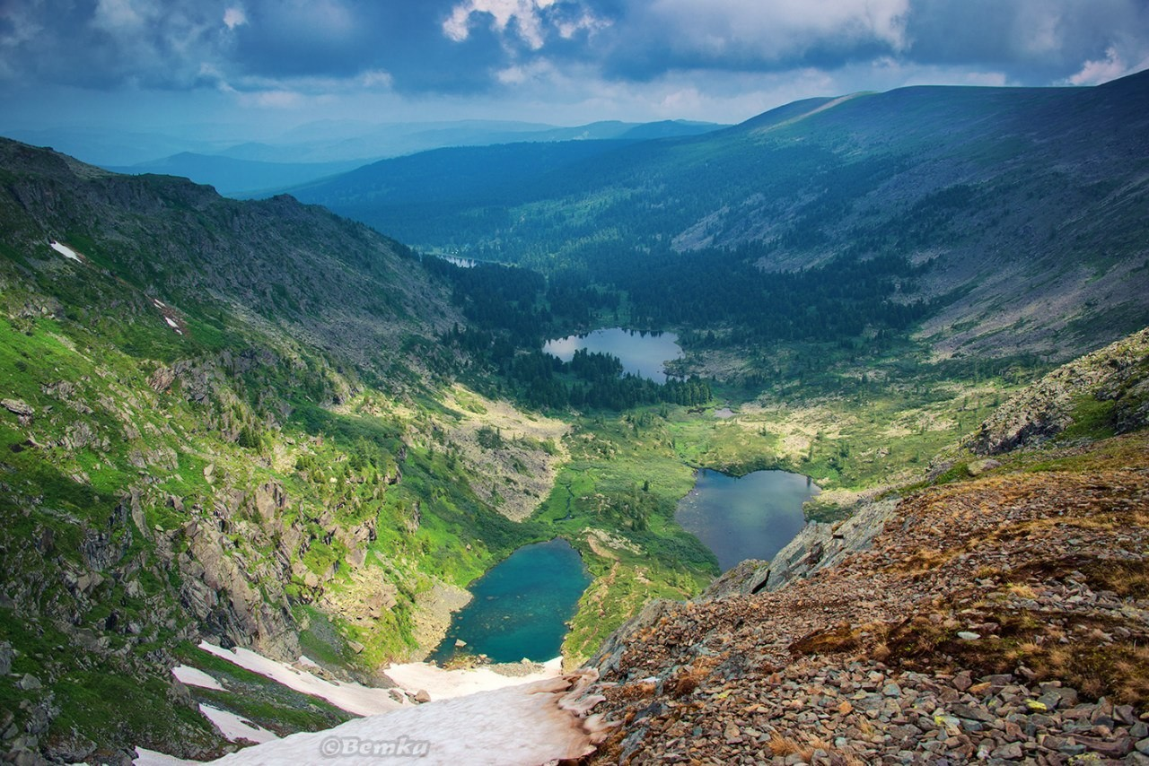 красивого каракольские озера в горном алтае фото день