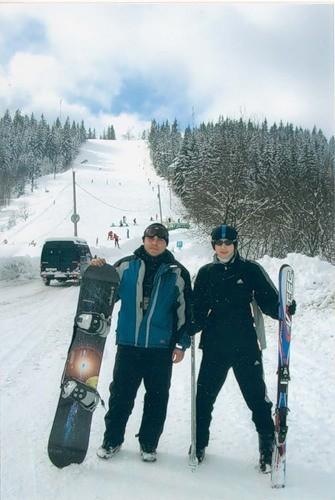 2005 год Тысовец, Украина - я впервые встал на лыжи
