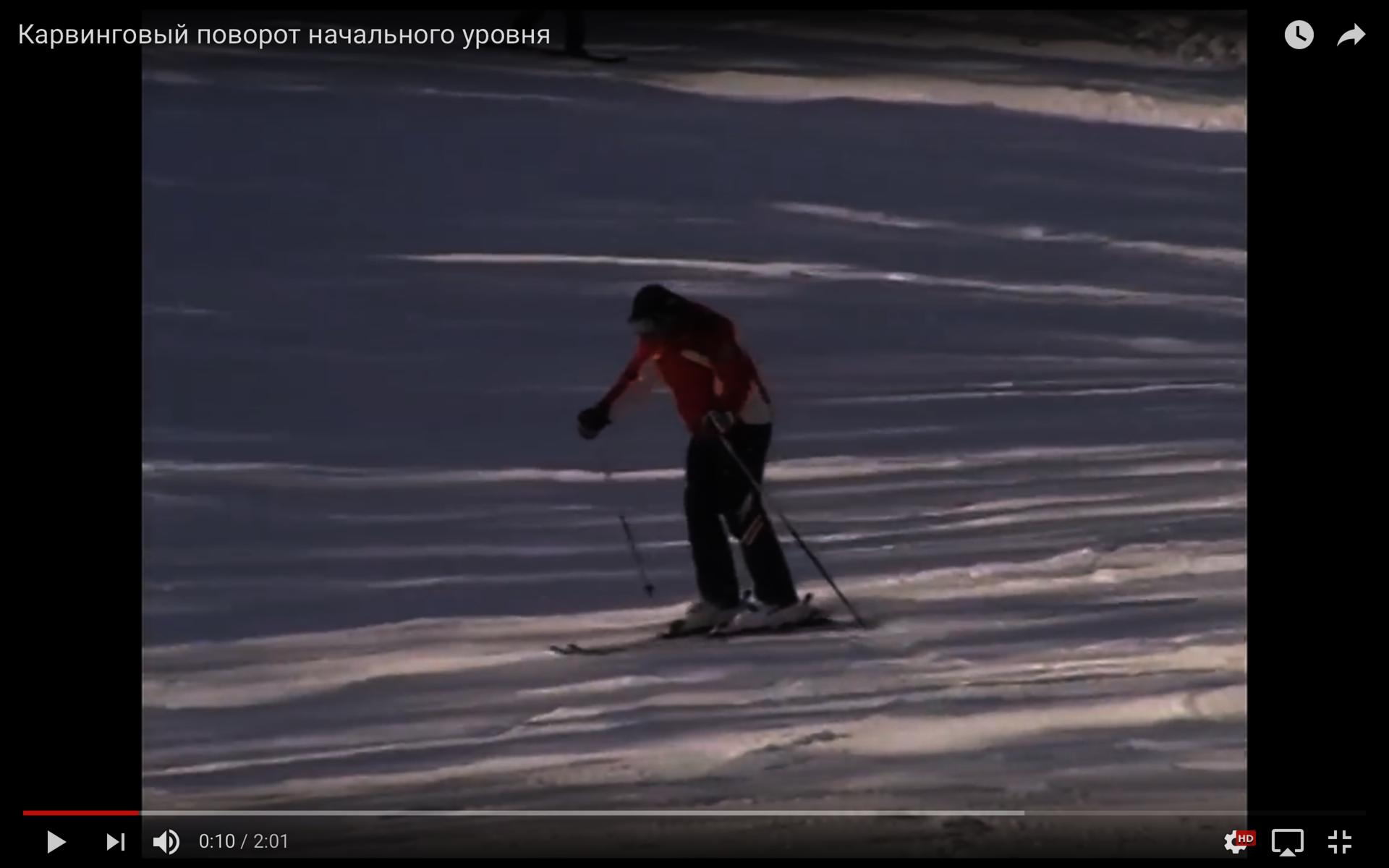 Обои лыжник, спуск, склон. Спорт