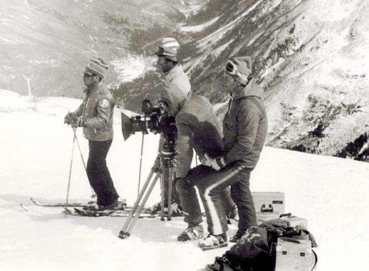 1977 год – Чегет. Съемки первого учебного фильма для Центрального Совета по туризму и экскурсиям СССР.