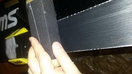 Шлифовка скользящей поверхности сноуборда