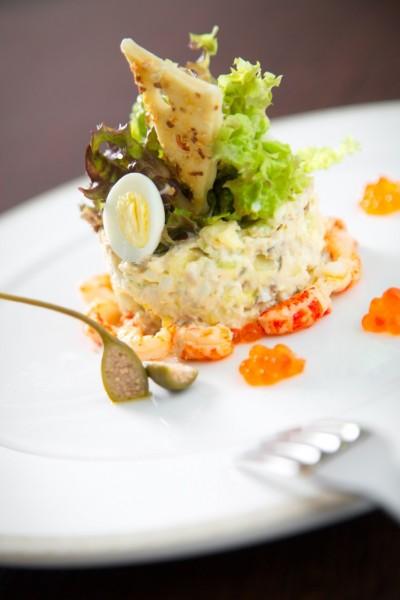 Фото салат оливье подача в ресторанах