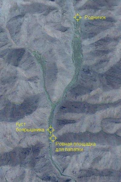 Вид на дорогу Горное - Черняевка с высоты вороньего полёта.