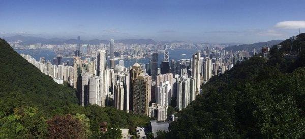 Гонконг. Вид с горы Виктория.
