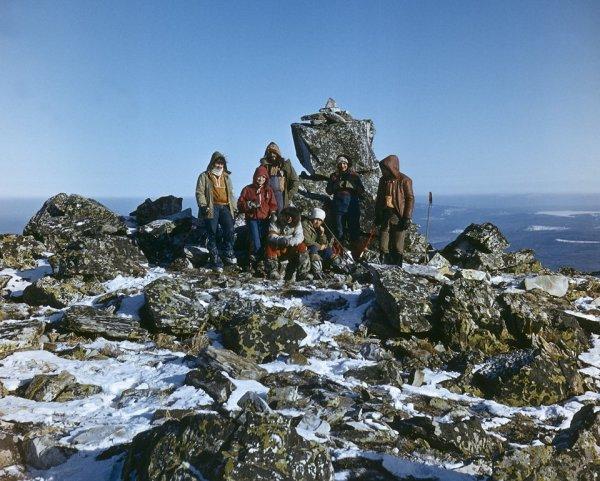 Южный Урал. На вершине г. Большой Уван. 1984 г.