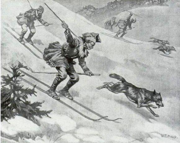 лыжи в древней руси картинки всю радуются