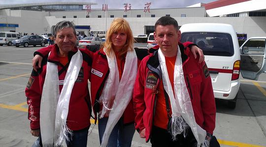 Иван Душарин, Людмила Коробешко и Максим Шакиров. Непал, весна 2012